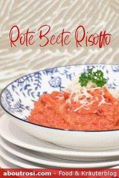 Einfaches Rote Beete (Rote Rüben/Randen) Rezept für Rote Rüben Risotto. Viele weitere Rezepte zum Kochen und Backen mit der Roten Rübe findest du auf aboutrosi.com Thai Red Curry, Ethnic Recipes, Food, Risotto, Food Food, Essen, Meals, Yemek, Eten