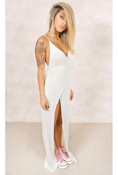 Vestido Polaris Transpasse Branco Fashion Closet - fashioncloset