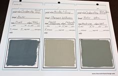 Printable Labels and Binder Sheets for Keeping Up with Paint Colors {Paint It Monday}…
