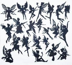 Amazon.com: Creative Embellishments Scrapbook Laser Cut Chipboard Fairies Mega Pack 22 pieces (Black)