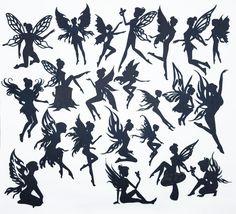 Amazon.com: Creative Embellishments Scrapbook Laser Cut Chipboard Fairies Mega Pack 22 pieces (Black)
