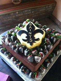 NEW ORLEANS SAINTS GROOMS CAKE