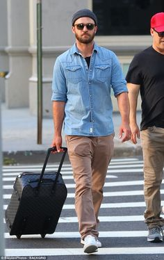Rolling home:Justin Timberlake, 36, kept a low profile in New York City on Friday...