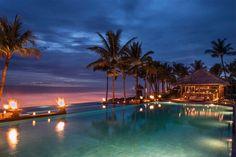 The Legian Bali's ocean bar at sunset #Seminyak #Bali