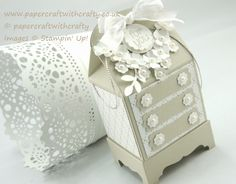 Stampin Up Bakers Box Die - My Amoire. http://www.papercraftwithcrafty.co.uk/2015/09/thinking-outside-of-bakers-box.html