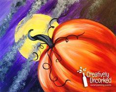 Moonlit Pumpkin | Creatively Uncorked | http://creativelyuncorked.com