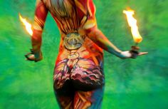 Art in motion World Bodypainting Festival in Austria