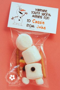 Valentine--You're Worth Melting For / Frozen Olaf {OneCreativeMommy.com} #valentine