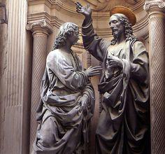 Andrea del Verrocchio Eserleri - Christ and St. Thomas (Orsanmichele, Florence)
