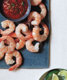Shrimp With Spiced Cocktail Sauce | Get the recipe: http://www.realsimple.com/food-recipes/browse-all-recipes/shrimp-spiced-cocktail-sauce-00100000089165/index.html