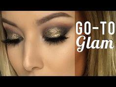 Go To Glam Tutorial ft Makeup Geek   Lustrelux - YouTube