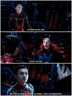 #infinity war #peter parker #steven strange
