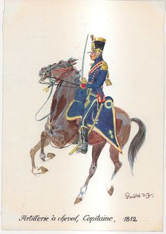 French; Horse Artillery, Captain, 1812 by H.Knotel