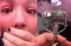 This eyelash tragedy.