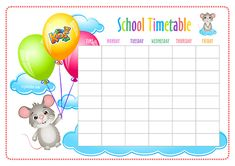 FREE School Timetable and Weekly Planner. Timetable Planner, Class Timetable, Timetable Template, Earth Day Worksheets, Back To School Worksheets, Worksheets For Kids, Birthday Charts, Weekly Planner Printable, Learning The Alphabet