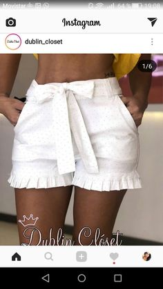 These are oh so sweet! Cool Outfits, Summer Outfits, Casual Outfits, Fashion Outfits, Cute Shorts, Casual Shorts, Casual Wear, Casual Chic, Mode Chic