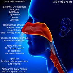 Diffuse Sinus Pressure Relief www.bellasentials.com