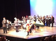 University Camera and Cecilian Choir rehearsing for the 'Cold Concert,' Gulbenkian Theatre, December 2011