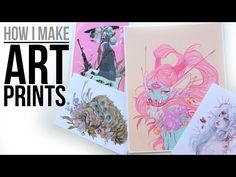(1) How I Make Art Prints from Home // Supplies, Tools, Etc. - YouTube