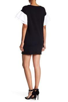 Ruffle Sleeve Sweatshirt Dress (Regular & Petite) by Vanity Room on @nordstrom_rack