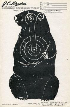 Vintage Shooting Target  - Groundhog