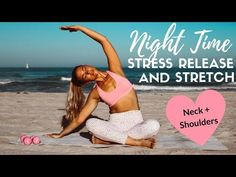 I find doing this really helps me transition from work to home and leave any stress from the day behind me. We carry a lot of stress and tension in our neck . Stretch Routine, Yoga Routine, Exercise Routines, Beach Workouts, Running Workouts, Nocturne, Thin Thighs Workout, Barre Body, Ideas