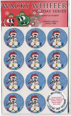Wacky Whiffer Scratch and Sniff Stickers Whiffers  HOLIDAY SERIES FrostedVanilla #WackyWhiffer #ScratchSniff