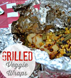 This idea uses canned veggies but I'd like to try using the stackable veggies by removing from plastic bag and wrapping them in foil from Grilled Veggie Wraps + BBQ Ideas - The Cards We Drew Grilled Side Dishes, Side Dishes For Bbq, Dinner Side Dishes, Veggie Dishes, Vegetable Recipes, Main Dishes, Steak Marinade Best, Best Steak, Veggie Wraps