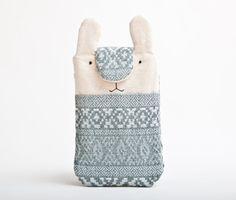 Fabric iPhone Case, Samsung Galaxy, Smartphone sleeve, Nokia Lumia, Bunny Rabbit