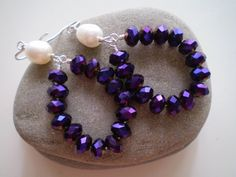 Metallic PurpleOpaque Faceted Crystal Rondelles & by FMBdesigns, $85.00