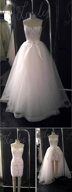 wedding dress 2 ways