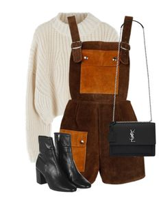 """Untitled #13489"" by alexsrogers ❤ liked on Polyvore featuring Topshop and Yves Saint Laurent"