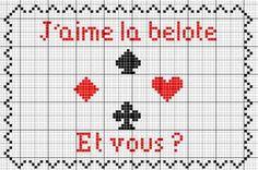 Loisirs - Belote - point de croix - cross stitch - Blog : http://broderiemimie44.canalblog.com/