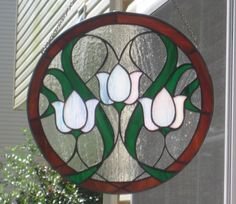 Circular stained glass panel featuring by EyecatchersbyDarlene, $125.00