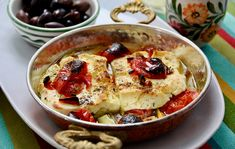 Grilovaná feta Feta, Naan, French Toast, Oatmeal, Breakfast, Red Peppers, The Oatmeal, Morning Coffee, Rolled Oats