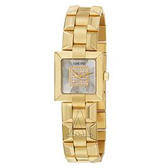 Gold Concord Women's La Scala Watch with Mother of Pearl and Diamond Dial
