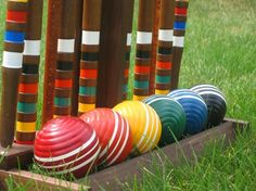 How to play Croquet! For a truly Mellor Ware tea party why not make balls out of paper mache animals?