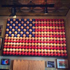 American flag made with baseballs by nishimurakeiko, via Flickr