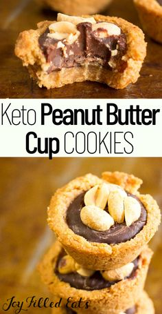 Low Carb Sweets, Low Carb Desserts, Healthy Sweets, Low Carb Recipes, Dessert Recipes, Dinner Recipes, Peanut Butter Cup Cookies, Keto Cookies, Shortbread Cookies