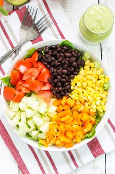 This Black Bean Salad With Avocado Dressing Is the Healthy Lunch You've Been Looking For