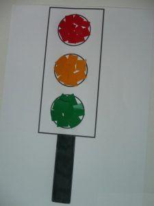 traffic light craft idea for kids