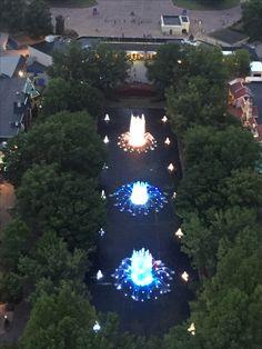 Kings Dominion from the Eiffel Tower  #kingsdominion #eiffeltower #fountains #themparks