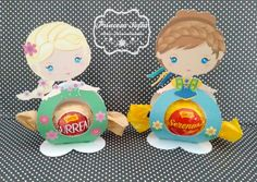 Porta Bombom Princesas Frozen Fever Frozen Fever Party, Prince Party, Frozen Characters, Frozen Birthday, Jelsa, Chocolate Box, Princesas Disney, Diy Crafts, Party Crafts