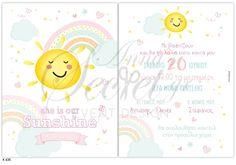 Προσκλητήριο βάπτισης για κορίτσια με θέμα ουρανό, annassecret Tweety, Pets, Character, Lettering, Animals And Pets