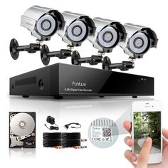 Funlux® 8 Channel HDMI DVR 4 700TVL IR Outdoor Camera Home Security System 1TB #Funlux
