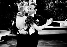 """a-study-of-fred-and-ginger: """"""""We had that agreement… no kissing… So he could have a happy home-life."""" – Ginger Rogers, in a 1991 interview for the BBC """" Old Hollywood Stars, Golden Age Of Hollywood, Vintage Hollywood, Classic Hollywood, Old Movies, Vintage Movies, Romantic Dance, Fred And Ginger, Dancing King"""