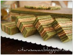 Kek Lapis Teh Hijau / Greentea Layer Cake - Recipes Today!