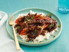 Get Spicy Mint Beef Recipe from Food Network