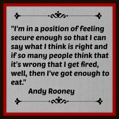 Wow...love the strength of this Andy Rooney quote!