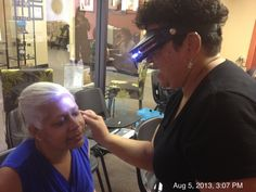 Hands on assessment with LED magnifying Headlamp